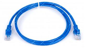 Патч-корд UTP Cat5 8Р8С- 8Р8С синий 1.0 метра