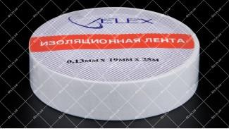 Лента изоляционная ELEX 25 метров белая