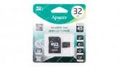 Карта памяти 32GB microSDHC Apacer class 10 adapter SD