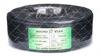 Кабель сигнальный Sound Star 2x0.35 CU 100 метров черный