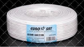 Кабель сигнальный EUROSAT 4x0.22 CCA 100 метров