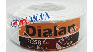 Кабель коаксиальный DIALAN RG-58 Cu 100 метров 50 Ом