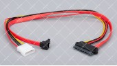 Кабель передачи данных SATA + power Vinga 0.45 метра угловой (SATAPW01)