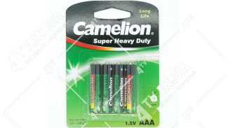 Батарейка CAMELION 1.5V AAA 4шт. блистер