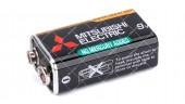 """Батарейка Mitsubishi Super Heavy Duty 9V 6F22/1S """"Крона"""""""