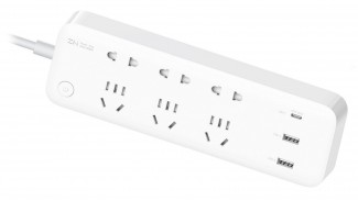 Фильтр сетевой ZMI 65W 3 розетки 2 usb + usb С 13 метров белый