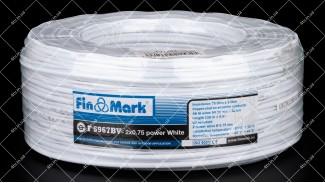 Кабель коаксиальный FinMark F5967BV-2x0.75 100 метров 75 Ом белый