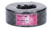 Кабель коаксиальный EUROSAT RG-58C/U Сu 112% 100м 50 Ом черный
