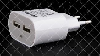 Адаптер сетевой Sertec STC-H-PF1 220В 5V 2.1A USB 2 порта