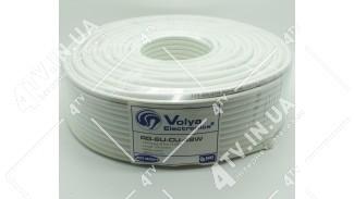 Коаксиальный кабель Volya Electronics RG6U-48W Cu (100 м.) МЕДЬ 75 Ом белый