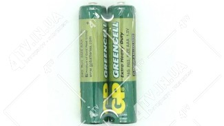 Батарейка GP Greencell 1.5V AAA 2шт.