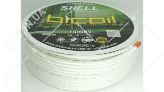 Коаксиальный кабель BICOIL SHELL F690BV (100 м.) 75 Ом белый