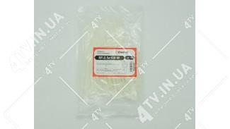 Стяжки нейлоновые (хомуты) 2.5x100 W белый 100 шт