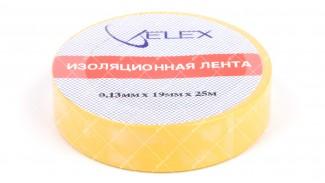 Лента изоляционная ELEX 25 метров желтая