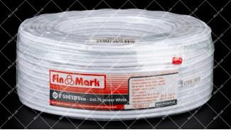 Кабель коаксиальный FinMark F5967BVcu-2x0.75 100 метров 75 Ом белый