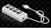 Хаб USB 2.0 4-х портовий питание от USB 480Mbts белый