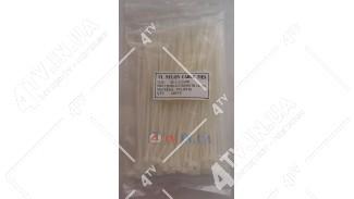 Стяжки нейлоновые (хомуты) 3.6х180 белые, 100 шт