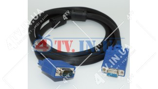 Шнур VGA - гнездо VGA с фильтрами 1.8 метра
