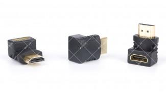 Переходник угловой HDMI гнездо F - HDMI штекер M 90°