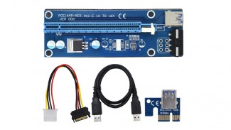 Адаптер Riser PCI-E 1X to 16X VER 006 комплект УЦЕНКА