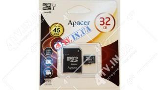 microSDHC UHS-1 Apacer 32Gb class 10 adapter SD (AP32GMCSH10U1-R)
