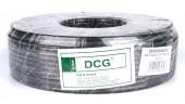 Кабель коаксиальный DCG RG-6 100 метров 75 Ом черный