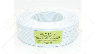 Кабель сигнальный Vector 6x0.22 экранированный 100 метров