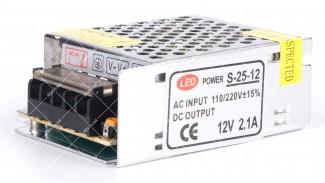 Блок питания LED Power PS-25-12E 12V 2.1A 25W перфорация