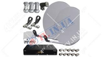 """Комплект для самостоятельной установки """"ЭЛИТ"""" две антенны + Sat Integral S-1210 HD Aron"""