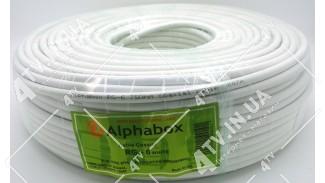 Коаксиальный кабель Alphabox RG-6 64% (F660) белый