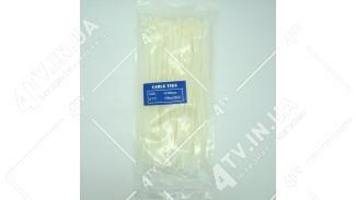 Стяжки нейлоновые (хомуты) 4х200 белые, 100 шт
