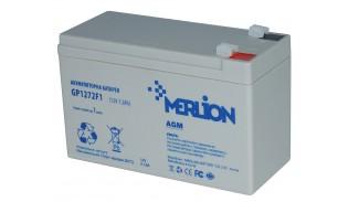 Батарея аккумуляторная Merlion AGM GP1272F1 12 V 7.2 Ah белая
