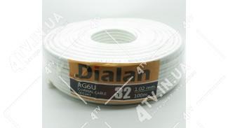 Коаксиальный кабель DIALAN RG6U 32 1.02mm (100 м.) 75 Ом белый