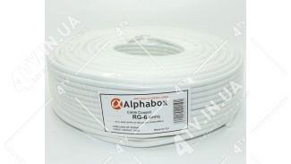 Кабель коаксиальный Alphabox RG-6 100 метров 75 Ом