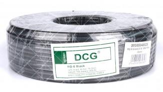 Коаксиальный кабель DCG RG-6 (100 м.) 75 Ом черный