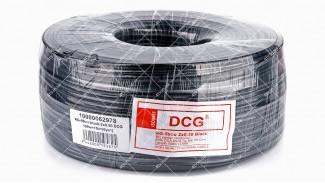 Кабель коаксиальный DCG RG-59cu + 2x0.50 100 метров 75 Ом черный