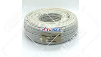 Телефонный кабель Vector 4x0.22 медь (100 м.) белый