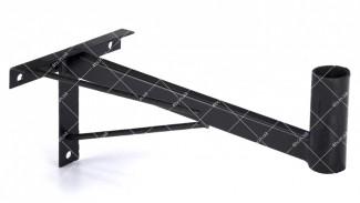 """Кронштейн """"Уголок"""" (вынос 40 см.) черный две подпорки"""