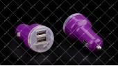 Автомобильное зарядное устройство Tcom фиолетовое