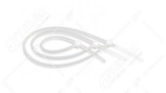 Стяжки нейлоновые (хомуты) 2.5x100 белые 100 шт