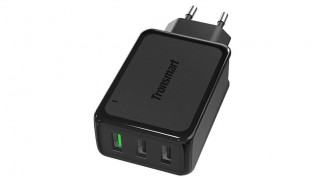 Адаптер сетевой Tronsmart W3PTA 42W Quick Charge 3.0 Black 3 USB