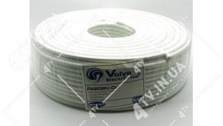 Коаксиальный кабель Volya Electronics F660BV Cu (100 м.) МЕДЬ 75 Ом белый