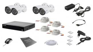 Комплект видеонаблюдения Tecsar AHD 4OUT 2MEGA
