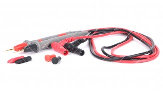 Шнуры к тестеру с серыми тонкими щупами 20А 4мм, силиконовый кабель