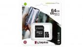 Карта памяти microSDXC Kingston 64GB Canvas Select Plus Adapter (SDCS2/64GB)