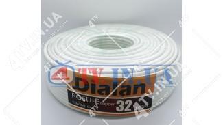 Коаксиальный кабель DIALAN RG6U-E copper 32 Медь (100 м.) 75 Ом белый