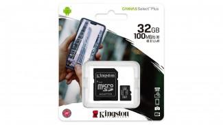 Карта памяти microSDHC Kingston 32GB Canvas Select Plus Adapter (SDCS2/32GB)