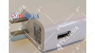 Адаптер сетевой 220V -> USB 5V / 1000mA белый