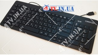 Клавиатура Canyon CNR-KEYB10B USB Slim Black