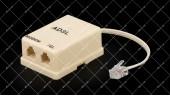 Сплиттер ADSL 6Р4С с телефонным кабелем 0.1 метра